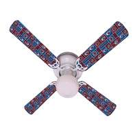 New NHL COLORADO AVALANCHE HOCKEY Ceiling Fan 42""