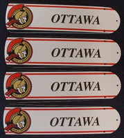 "New NHL OTTAWA SENATORS 42"" Ceiling Fan BLADES ONLY"