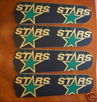 "New NHL DALLAS STARS 42"" Ceiling Fan BLADES ONLY"