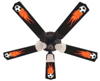 New HOT FLAMES SOCCER BALLS SPORTS Ceiling Fan 52""