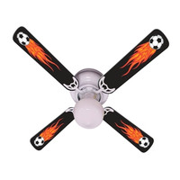 New HOT FLAMES SOCCER BALLS SPORTS Ceiling Fan 42""