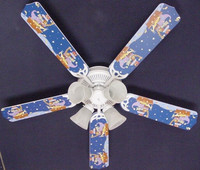 New KIDSLINE KIDS LINE STARRY NIGHT Ceiling Fan 52""