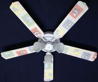 """New KIDSLINE KIDS LINE BARN YARD Ceiling Fan 52"""""""