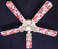 New HELLO KITTY Pink Kids Ceiling Fan 52""