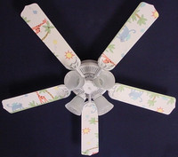New KIDSLINE KIDS LINE PARADISO ANIMALS Ceiling Fan 52""
