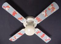 """New SESAME STREET BABY NURSERY ELMO Ceiling Fan 42"""""""