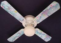 """New KIDSLINE KIDS LINE RAINBOW FISH  Ceiling Fan 42"""""""