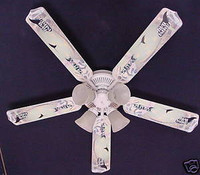 New MLB TAMPA BAY DEVIL RAYS BASEBALL Ceiling Fan 52""