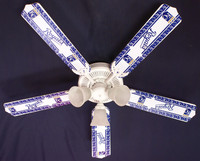 New MLB KANSAS CITY ROYALS BASEBALL Ceiling Fan 52""