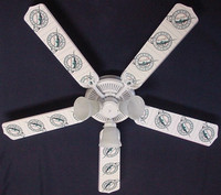 New MLB FLORIDA MARLINS BASEBALL Ceiling Fan 52""