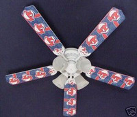 New MLB CLEVELAND INDIANS BASEBALL Ceiling Fan 52""