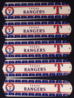 "New MLB TEXAS RANGERS 52"" Ceiling Fan BLADES ONLY"