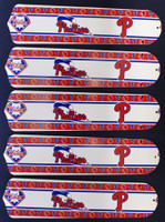 """New PHILADELPHIA PHILLIES 52"""" Ceiling Fan BLADES ONLY"""