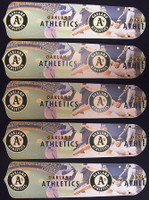 "New OAKLAND ATHLETICS A's 52"" Ceiling Fan BLADES ONLY"