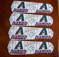 "New ARIZONA DIAMONDBACKS 52"" Ceiling Fan BLADES ONLY"