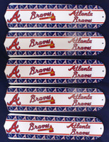 "New MLB ATLANTA BRAVES 52"" Ceiling Fan BLADES ONLY"