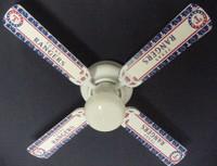 "New MLB TEXAS RANGERS BASEBALL Ceiling Fan 42"""