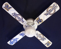 New MLB MILWAUKEE BREWERS BASEBALL Ceiling Fan 42""