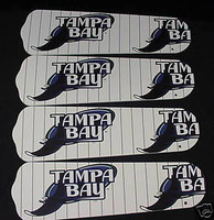"New TAMPA BAY DEVIL RAYS 42"" Ceiling Fan BLADES ONLY"