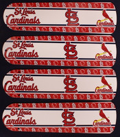 "New MLB ST. LOUIS CARDINALS 42"" Ceiling Fan BLADES ONLY"
