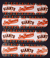 "New SAN FRANCISCO GIANTS 42"" Ceiling Fan BLADES ONLY"