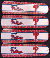 "New PHILADELPHIA PHILLIES 42"" Ceiling Fan BLADES ONLY"