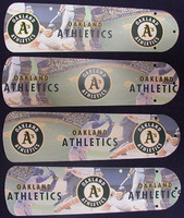 "New OAKLAND ATHLETICS A's 42"" Ceiling Fan BLADES ONLY"