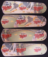 "New MLB MINNESOTA TWINS 42"" Ceiling Fan BLADES ONLY"
