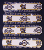 "New MLB MILWAUKEE BREWERS 42"" Ceiling Fan BLADES ONLY"