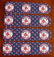 "New MLB BOSTON RED SOX 42"" Ceiling Fan BLADES ONLY"