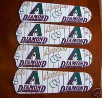 "New ARIZONA DIAMONDBACKS 42"" Ceiling Fan BLADES ONLY"