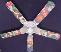 New SPORT SPORTS Ceiling Fan 52""