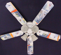 """New RADICAL SURFING SURF WAVES Ceiling Fan 52"""""""
