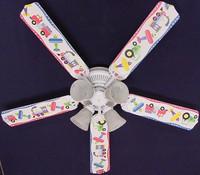 """New KIDS PLANES TRAINS TRUCKS Ceiling Fan 52"""""""