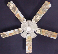 New BABY SAFARI ELEPHANT LION ZEBRA Ceiling Fan 52""
