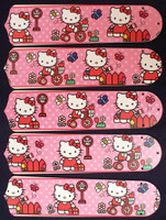 "New HELLO KITTY Pink 52"" Ceiling Fan BLADES ONLY"
