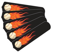 "New HOT FLAMES BASEBALL SPORTS 52"" Ceiling Fan BLADES ONLY"