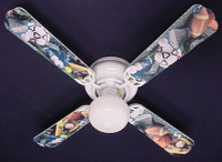 New SOCCER FOOTBALL BASEBALL SPORTS Ceiling Fan 42""
