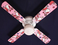 New HELLO KITTY Pink Kids Ceiling Fan 42""