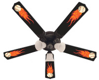 New HOT FLAMES BASEBALL SPORTS Ceiling Fan 52""