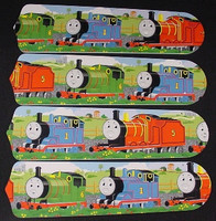 "New THOMAS TANK TRAIN PERCY 42"" Ceiling Fan BLADES ONLY"