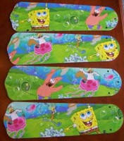 "New SPONGE BOB SQUARE PANTS 42"" Ceiling Fan BLADES ONLY"