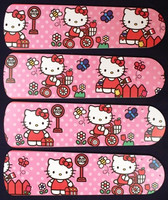 "New HELLO KITTY Pink 42"" Ceiling Fan BLADES ONLY"