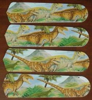 "New DINOSAUR DINOSAURS 42"" Ceiling Fan BLADES ONLY"