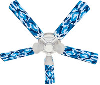 New CAMOFLAUGE CAMO BLUE Ceiling Fan 52""