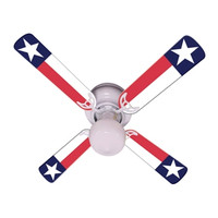 New TEXAS STATE FLAG LONE STAR Ceiling Fan 42""