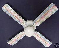 New SOUTH BEACH TROPICAL FLAMINGO Ceiling Fan 42""