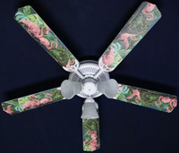 New TROPICAL PINK FLAMINGO Ceiling Fan 52""