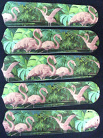 "New TROPICAL PINK FLAMINGO 52"" Ceiling Fan BLADES ONLY"