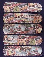 "New ROUTE 66 HIGHWAY 52"" Ceiling Fan BLADES ONLY"